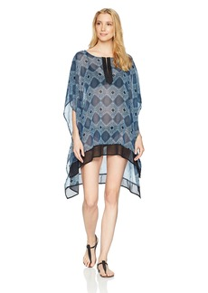 Ellen Tracy Women's Caftan Swim Cover-up  L