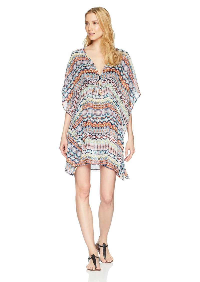 Ellen Tracy Women's Caftan Swim Cover-up  M