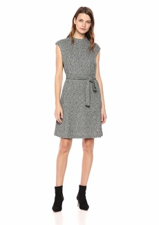 ELLEN TRACY Women's Cap Sleeeve Fit and Flare Dress  L