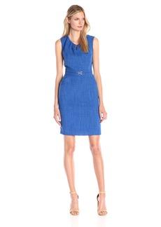 Ellen Tracy Women's Cap-Sleeve Keyhole Sheath Dress