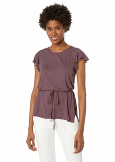 ELLEN TRACY Women's Cascade Sleeve Belted Tunic  M