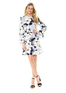 Ellen Tracy Women's Cloque Belted Shift Dress