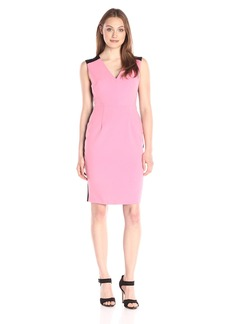 Ellen Tracy Women's Colorblocked Seamed Sheath Dress
