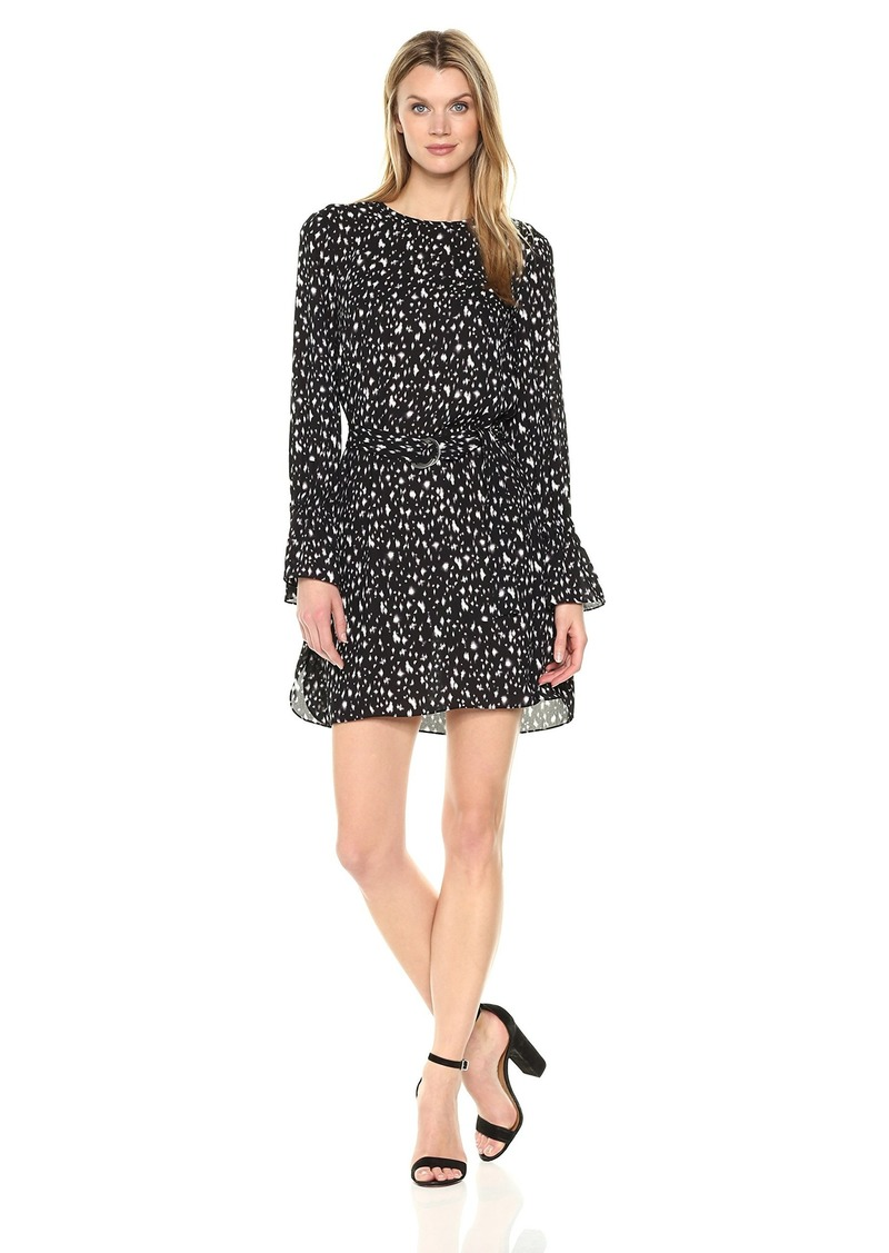ELLEN TRACY Women's Crew Neck Dress W/Dring Belt