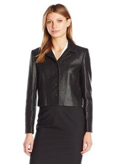 ELLEN TRACY Women's Cropped Button Front Jacket