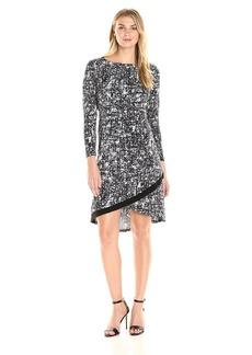 Ellen Tracy Women's Crossover Hem Dress  S