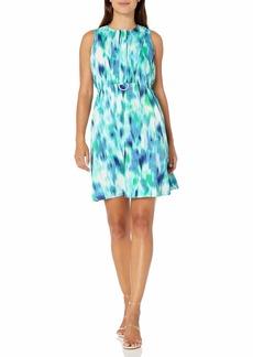 ELLEN TRACY Women's Petite D-Ring A-line Dress  12P