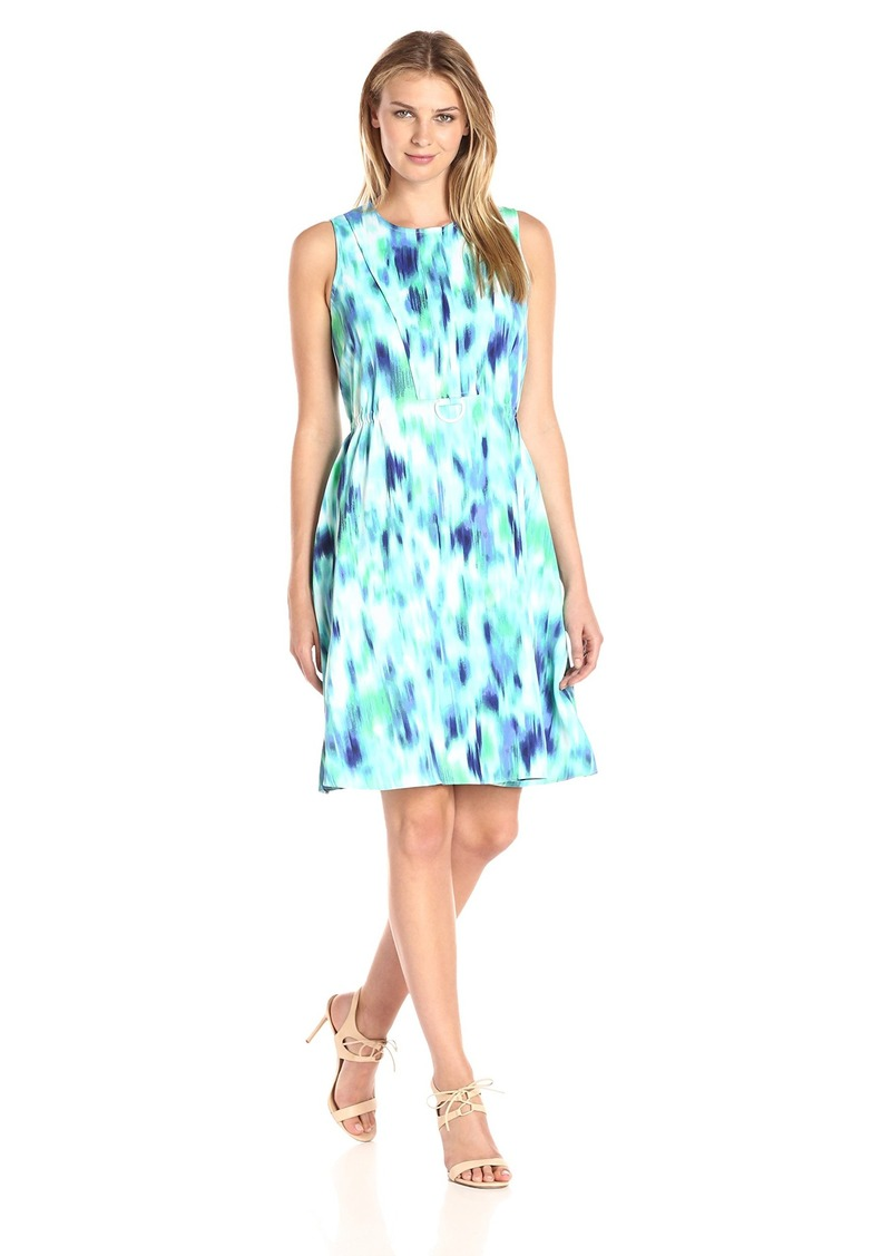 ELLEN TRACY Women's D-Ring A-line Dress