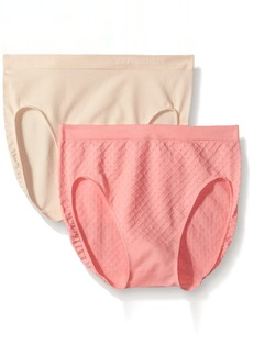 Ellen Tracy Women's Dot Jacquard Hicut Panty   (2 Pack)