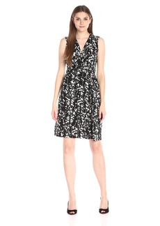 Ellen Tracy Women's Drape Twist Dress