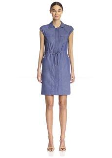 Ellen Tracy Women's Drawstring Shirt Dress