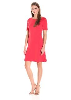 Ellen Tracy Women's Elbow Sleeve Flounce Dress  XS