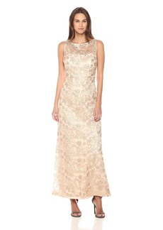 Ellen Tracy Women's Embroidered  Cocktail Dress