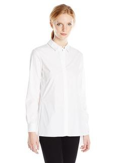 ELLEN TRACY Women's Et Stepped Hem Shirt