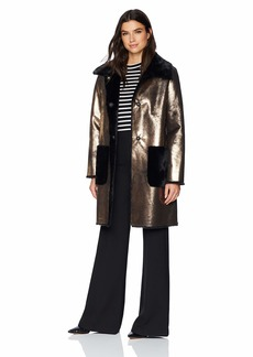 Ellen Tracy Women's Faux Shearling Jacket  L