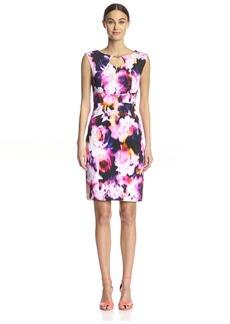 Ellen Tracy Women's Fitted Scuba Dress