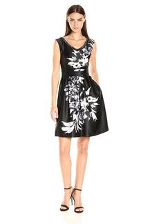 Ellen Tracy Women's Floral Beaded Party Dress