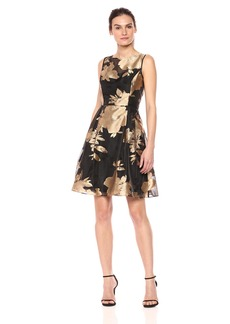 Ellen Tracy Women's Floral Burnout Dress