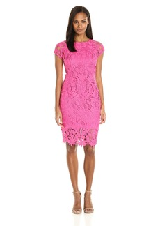 ELLEN TRACY Women's Floral Lace Midi Dress