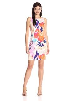 Ellen Tracy Women's Floral Printed Ponte Dress
