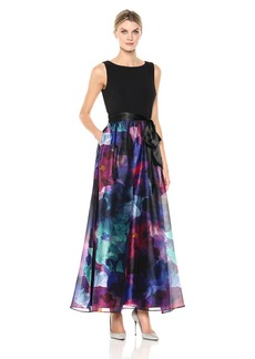 ELLEN TRACY Women's Floral Splash Gown