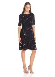 Ellen Tracy Women's Flounce Hem Dress
