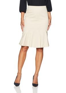 ELLEN TRACY Women's Flounce Hem Skirt