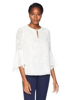 ELLEN TRACY Women's Flouncy Sleeve Blouse  XL
