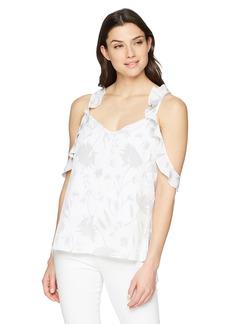 ELLEN TRACY Women's Flouncy Sleeve Double Layered Top  XL