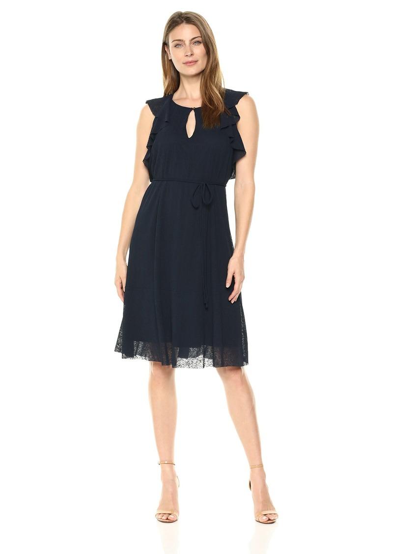 ELLEN TRACY Women's Flouncy Sleeve Dress  L