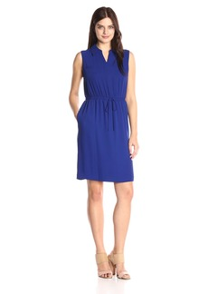 Ellen Tracy Women's Flowy Drawstring Dress