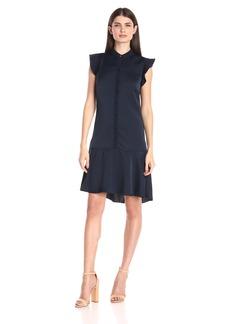 Ellen Tracy Women's Flutter-Sleeve Shirtdress