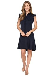 ELLEN TRACY Women's Flutter-Sleeve Shirtdress
