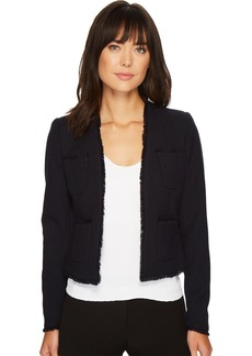 ELLEN TRACY Women's Fringe Trimmed Jacket