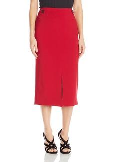 ELLEN TRACY Women's Front Slit Midi Skirt