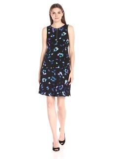 Ellen Tracy Women's Front Zip Knit Dress