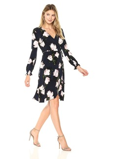 Ellen Tracy Women's Full Sleeve Wrap Dress  M