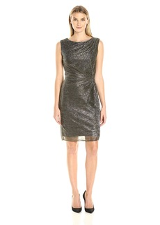 Ellen Tracy Women's Galaxy Metallic Side Knot Dress