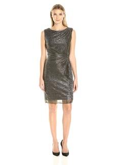 ELLEN TRACY Women's Galaxy Metallic Side Knot Dress