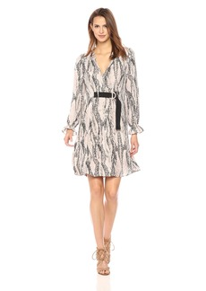 Ellen Tracy Women's Georgette Printed Shirt Dress