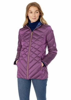 Ellen Tracy Women's Hooded Down Jacket  L