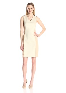 Ellen Tracy Women's Hopsack Fitted Sheath Dress