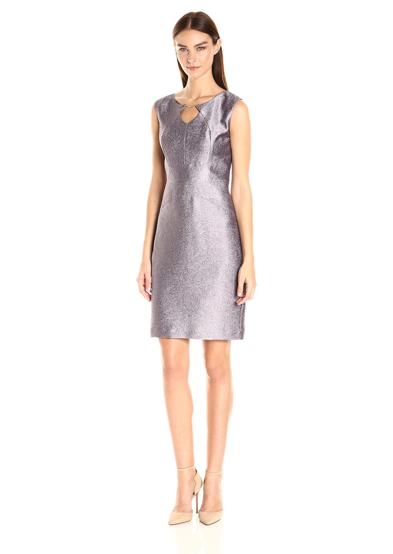ELLEN TRACY Women's Jacquard with Sheen Dress