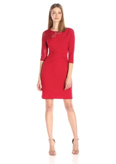 Ellen Tracy Women's Jersey Dress with Lace