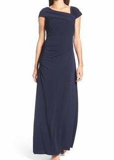 ELLEN TRACY Women's Jersey Gown with Off The Shoulder Detail