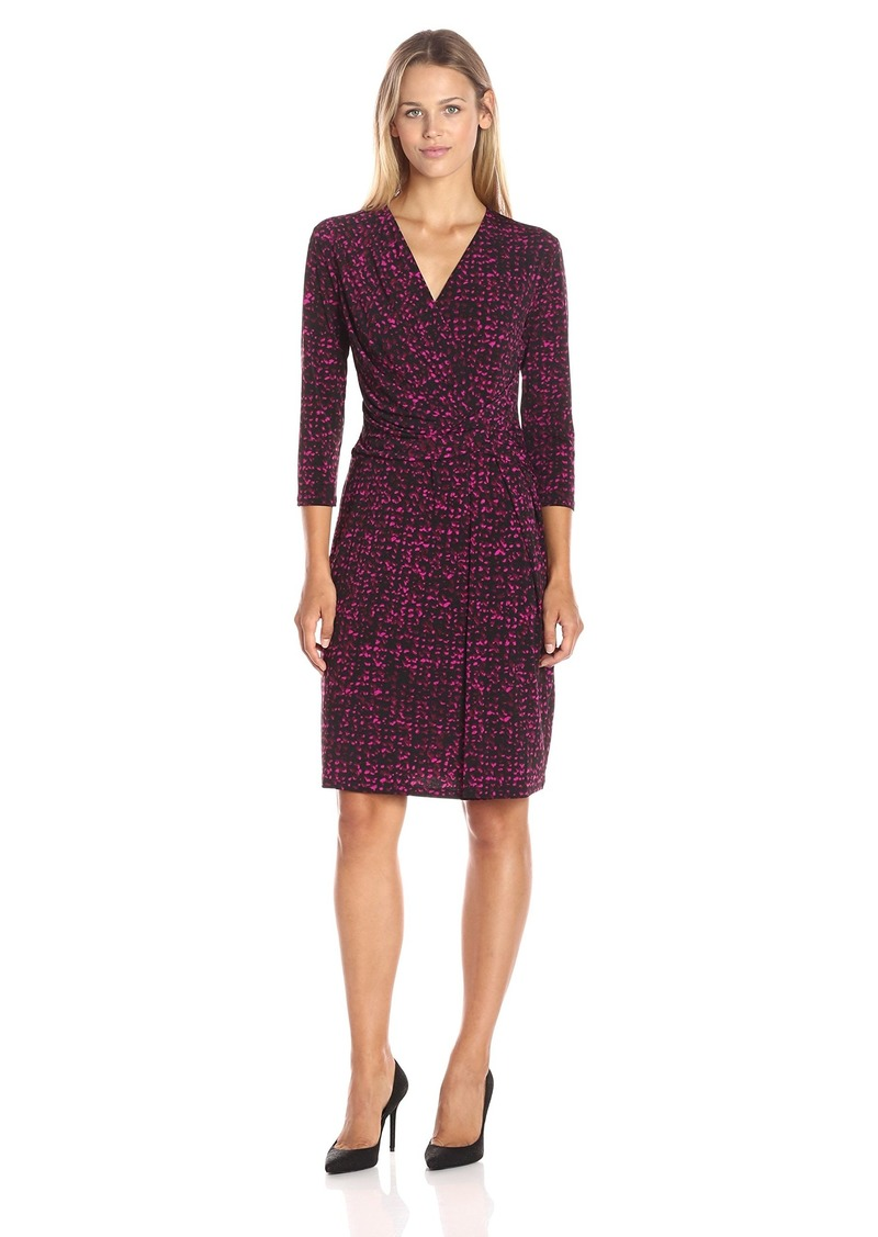 ELLEN TRACY Women's Knit Twist Dress