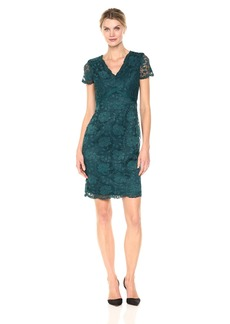 Ellen Tracy Women's Lace Dress with V-Neck