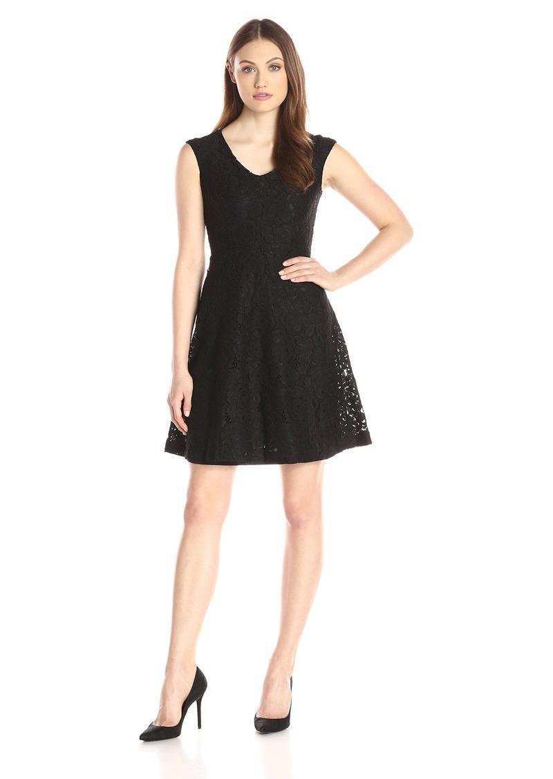 Ellen Tracy Ellen Tracy Women s Lace Fit and Flare Dress  cc6fb9fd4