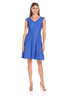 Ellen Tracy Women's Lace Fit and Flare Dress