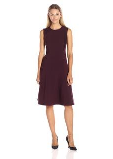 Ellen Tracy Women's Lace Inset Soft Flare Dress